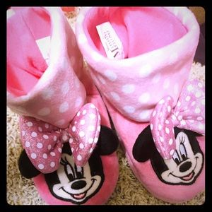 Disney Minnie Mouse Toddler Slipper Boots 7/8